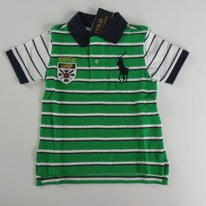 NWT Ralph Lauren Striped Crest Big Pony Polo Shirt